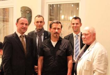 Stadtrat Dr. Kühne, Marco Flierl, Skip Pahler