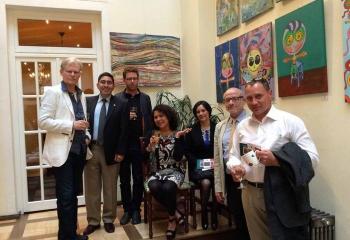 Vernissage mit Kulturattaché der mexikanischen Botschaft
